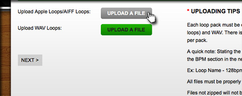 audioBase Upload Looppack Step 3 - Upload and Set Up Looppack